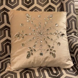 Snowflake jeweled winter pillow Christmas holiday